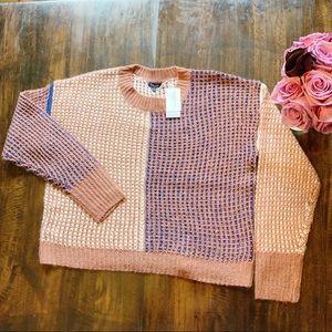 Splendid | Crop Waffle Knit Sweater